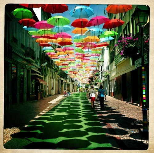 Umbrella Sky in Agueda, Portugal by Patricia Almeida