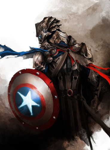 Captain America (Medieval Way)
