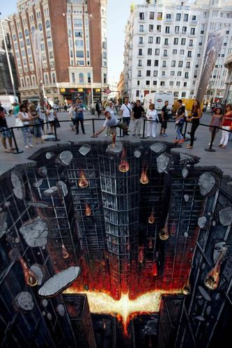 Batman The Dark Knight Rises – Superbe Street Art en 3D