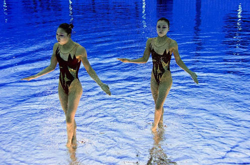 Olympic Synchronized Swimming Photos Flipped Upside-Down