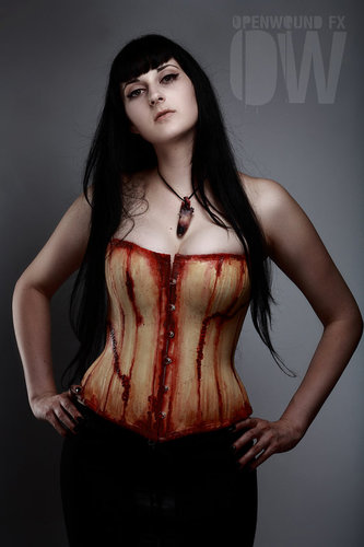 PeopleSkin Gein Overbust Corset by OpenWound FX by OpenWoundFX