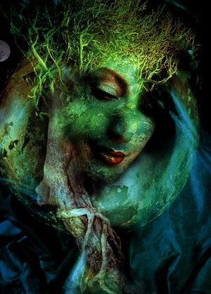 MOTHER EARTH IN GREEN