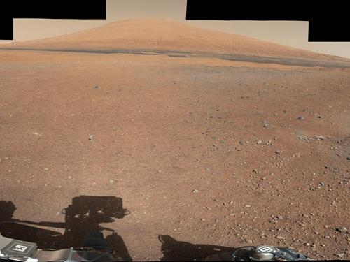 NASA - Landing Site Panorama, with the Heights of Mount Sharp