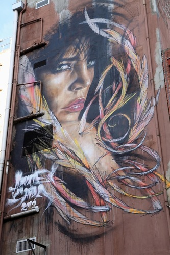 Melbourne's Stunning Feathered Girl Mural