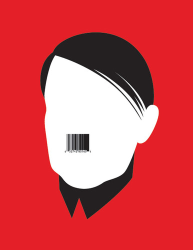 Noma Bar's Minimalist Portraits of Cultural Icons |  Hitler