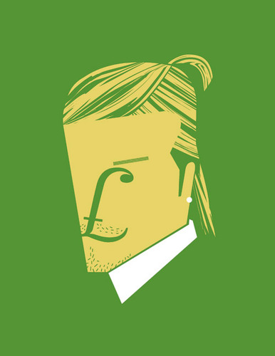 Noma Bar's Minimalist Portraits of Cultural Icons |  David Beckam