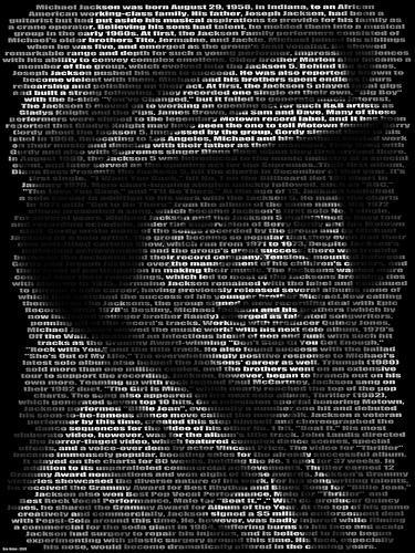 Michael Jackson Text Art Tribute | Walyou