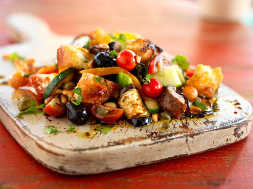 Grilled Panzanella A.K.A Italian Bread Salad #food #cuisine #recette