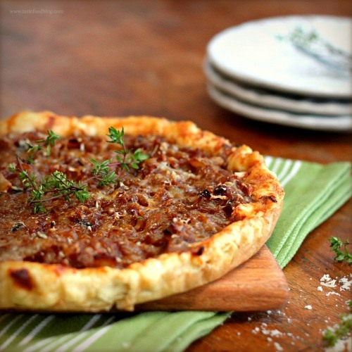 Caramelized Onion Tart  #food #cuisine #recette #recipe