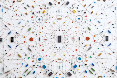 Technological Mandalas Made from Soldered Computer and Radio Components  #sculpture