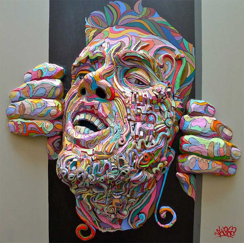 #Graffiti Meets Sculpture in Colorful Figures that Explode Through ...