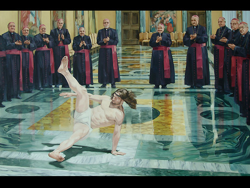 Breakdancing Jesus by Cosmo Sarson