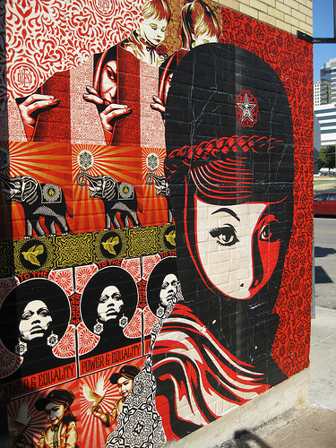 #street-art by  Sheppard Fairey