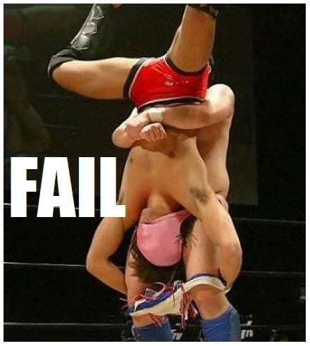 Epic wrestling fail #fail