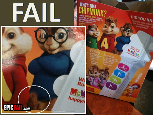 Ronald et les chipmunks - #fail