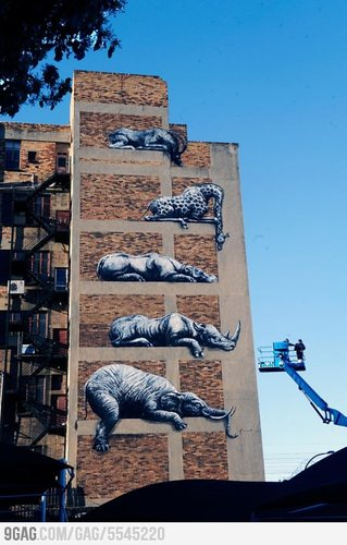 Street-art in Johannesburg South Africa