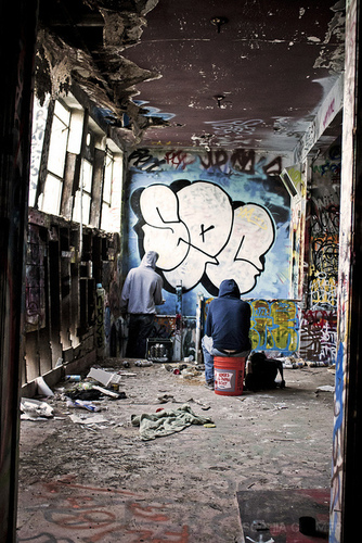 Graffiti throw up by SEC