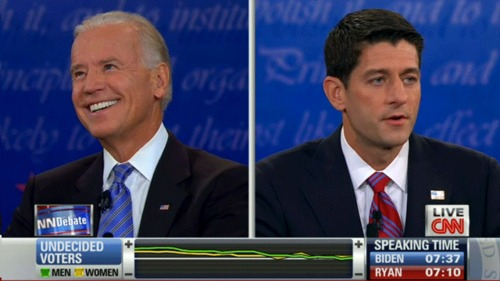 More than words from the VP debate