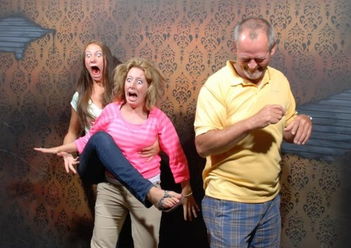 30 Pictures of People Freaking Out in a Haunted House: 2012 Edition from Look What I Found