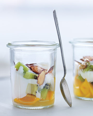 yogurt with tropical fruit #recipe #food