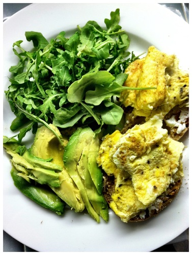 recipe : Egg, Avocado and Arangula #food
