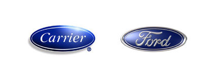 When logos look alike | Carrier and Ford