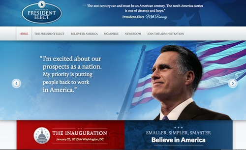 Romney's Transition Site