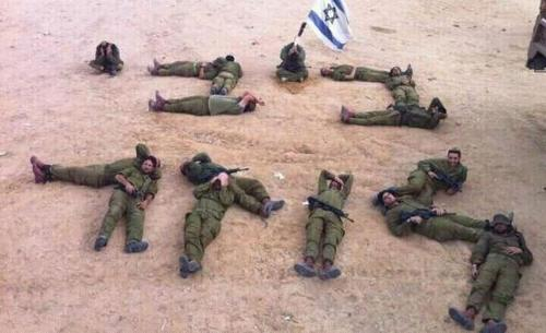Bibi loser: Israeli soldiers spell out criticism of Netanyahu with bodies in viral picture