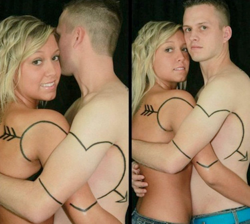 37 Hilariously Distressing Couple Tattoos