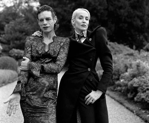 Mick Jagger & Jerry Hall photographed by Brigitte Lacombe
