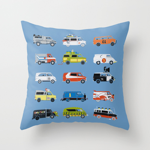 Van Throw Pillow by Brandon Ortwein