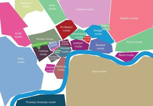 The Bigot's Map Of London