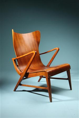Armchairs, designed by Carl Axel Acking, Sweden. 1950's.