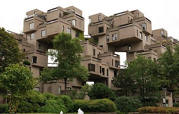 Habitat '67 in Montreal, Canada designed by Moshe Safdie