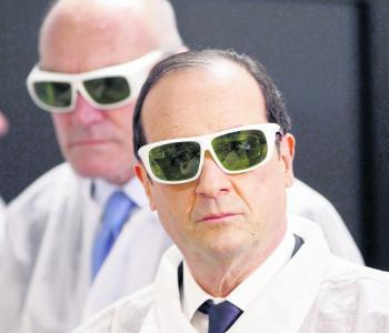 François Hollande visite les symboles de l'innovation