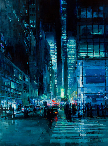 Brooding Cityscapes Painted with Oils by Jeremy Mann