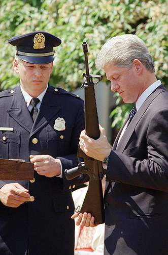 US presidents photographed with guns - Bill Clinton