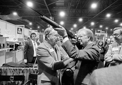 US presidents photographed with guns : Jimmy Carter
