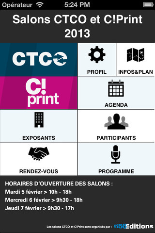 Salons CTCO & C!Print : application iphone, ipad