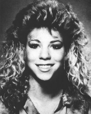 mariah carey young with her big hair