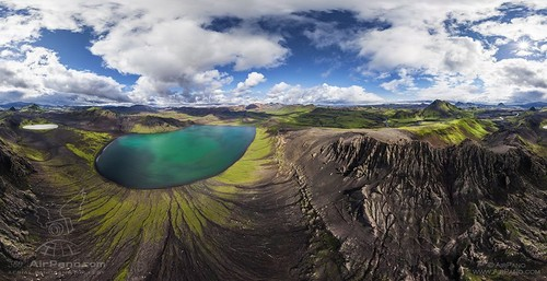Fjallabak Nature Reserve, Iceland | 360 Degree Aerial Panorama