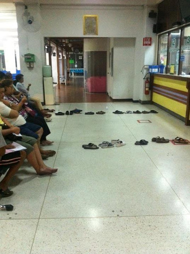 L'art de faire la queue en Thaïlande