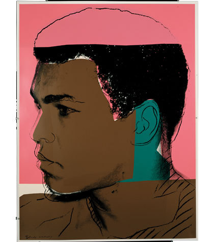 Mohamed Ali by warhol