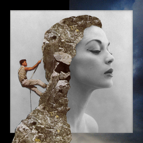 """Stone queen"" numeric collage via @GENNYDARKOALTEREGO"