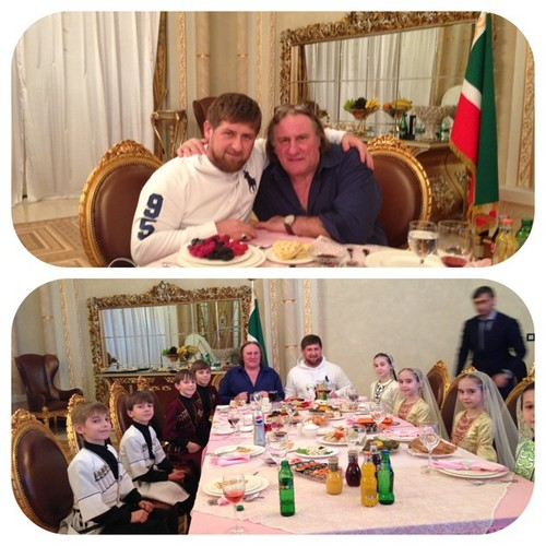 Photo by kadyrov_95 sur Instagram : Depardieu chez son ami kadyrov