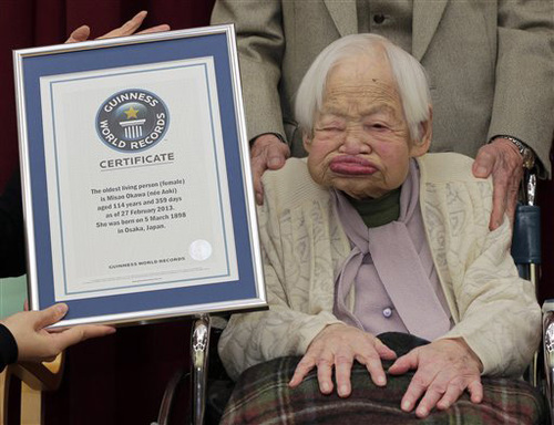 Japanese woman, 114, named world's oldest woman