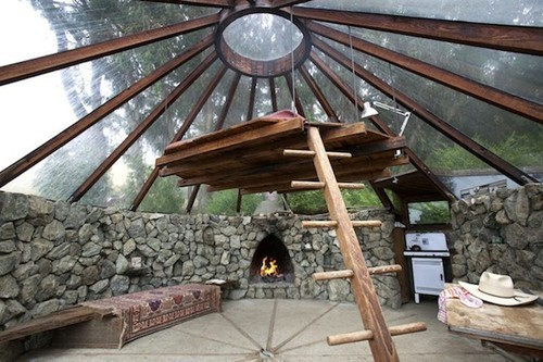 big sur glass roof yurt built in 1976