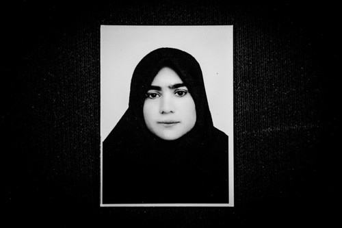 Somayeh Mehri, before she was attacked with acid.