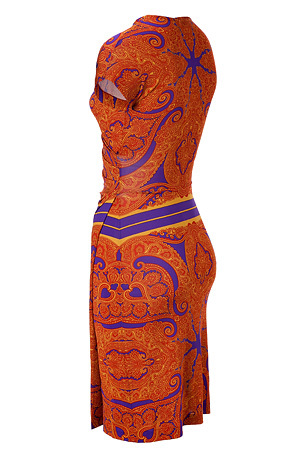Red-Multi Paisley Print Dress by ETRO | Luxury fashion online | STYLEBOP.com