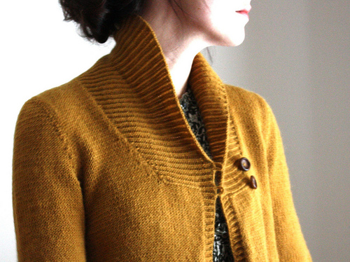 Larch Cardigan pattern by Amy Christoffers